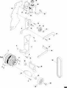 Mercruiser 383 Mag Stroker Alternator  U0026 Brackets Parts