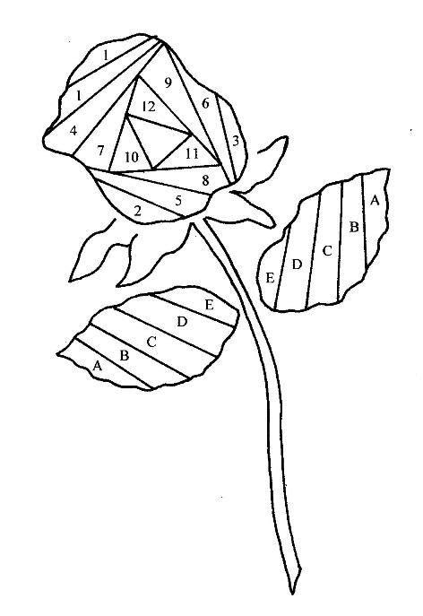 stemmedrose iris paper folding iris folding templates