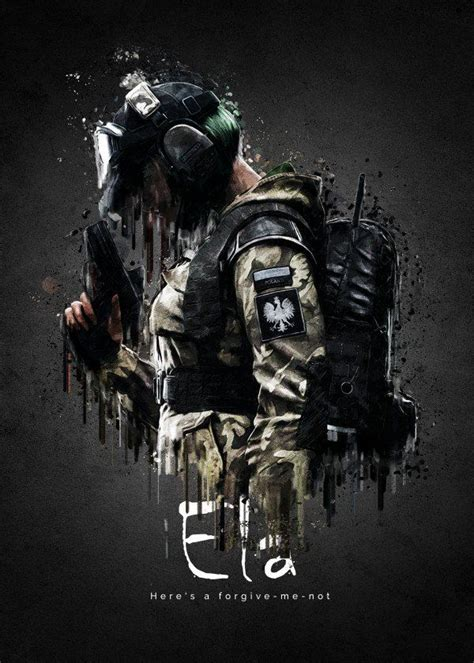 rainbow  siege characters ela displate artwork