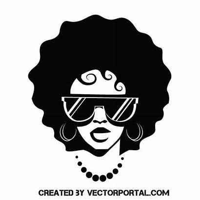 Woman Sunglasses Vector Silhouette Vectorportal Hairstyle