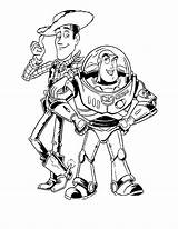 Coloring Buzz Pages Zurg Woody sketch template