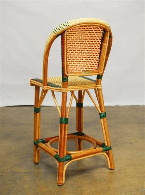pair of rattan maison gatti bistro bar stools at
