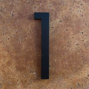 modern house numbers and letters With black house numbers and letters