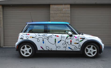 My Mini Cooper Became A Rolling Holiday Greeting After I