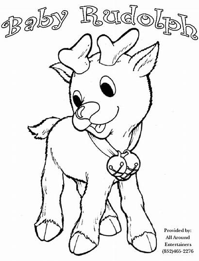 Rudolph Coloring Pages Santa Christmas Face Colouring