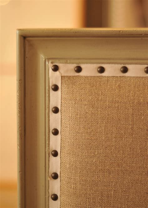 Furniture Upholstery Trim by Bronze Nailheads Spaced And Applied On A Ribbon Gimp