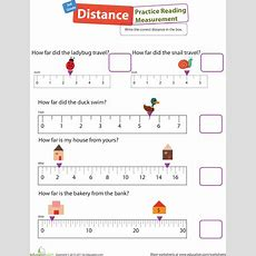 Measurement Mania #7 Practice Reading Distances  Worksheets, Distance And Math