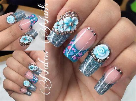 Rated 3.94118/5 diseños de uñas acrilicas. Uñas Acrilicas   Diseño en Azul   Natos Nails - YouTube