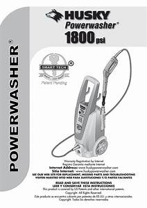 Husky Powerwasher 1800psi User Manual