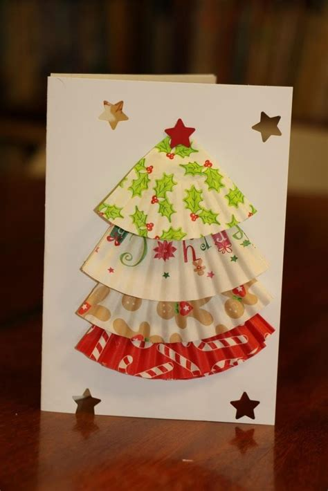every bed of roses cupcake liner christmas tree cards