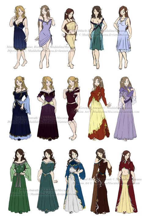 How to Draw Anime Clothes for Girls | Dress n Clothes Designs P2 - Diferion Royal Women by ...