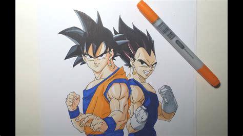 speed drawing goku vegeta hd youtube