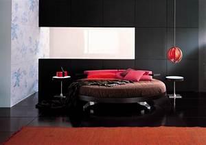 Lit rond design pour la chambre adulte moderne en 36 idees for Chambre design avec futon rouge