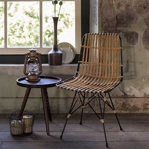 Chaise En Rotin : chaise m tal et rotin kubu par drawer ~ Preciouscoupons.com Idées de Décoration