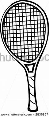 Tennis Racket Coloring Racquet Clipart sketch template