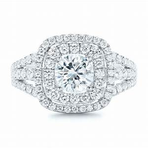 double halo diamond engagement ring 102487 With double halo wedding ring