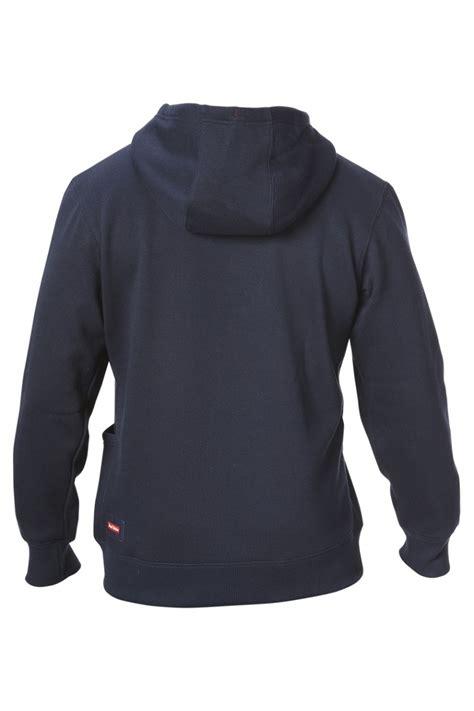 hard yakka brush fleece hoodie navy