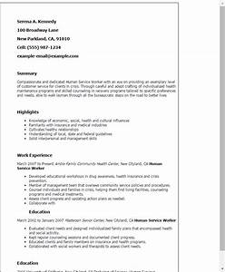 1 human service worker resume templates try them now for Human services resume template
