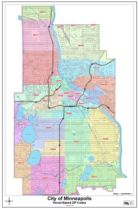 Minneapolis Minnesota Zip Code Map