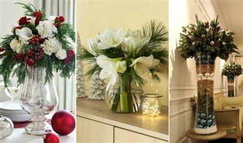 Weihnachtlich Dekorieren Große Glasvase Gesteck Selber