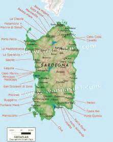 Sardinia Italy Map