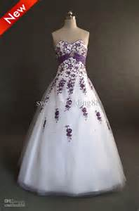 wedding dress with purple accents powell wedding - Wedding Dresses With Purple Accents