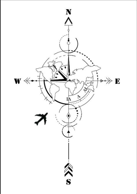 Without the plane | Map tattoos, Diy tattoo