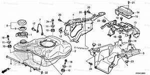 Honda Atv 2015 Oem Parts Diagram For Fuel Tank