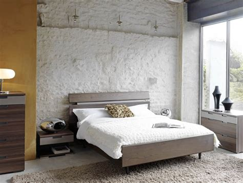 chambre a coucher style contemporain lit en bois 2 places contemporain photo 6 10 un lit en