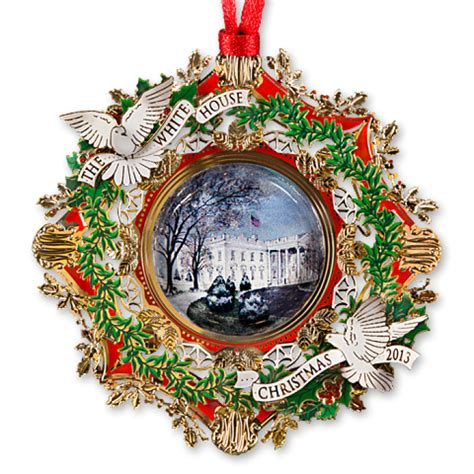 white house christmas ornament  american elm tree