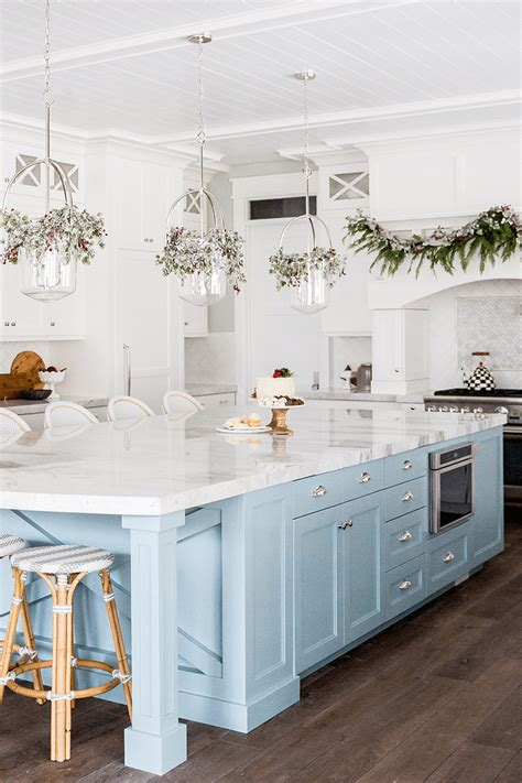 colorful kitchen island  center