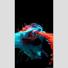 3d Paint Splash Red Blue Mixing Android Wallpapers Free Download Desktop Background
