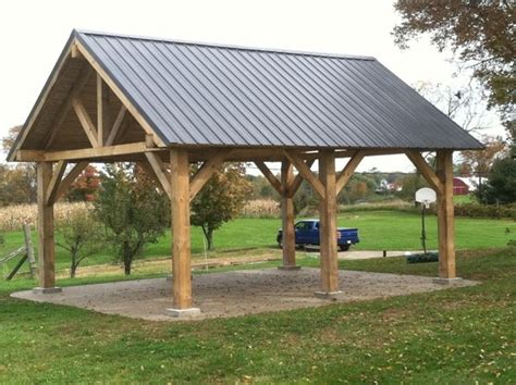 Pavilion Plans Backyard by Timber Frame Pavillion Cut On Timberking 2000 Sawmill
