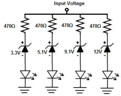 How Build Voltmeter Circuit With Zener Diodes