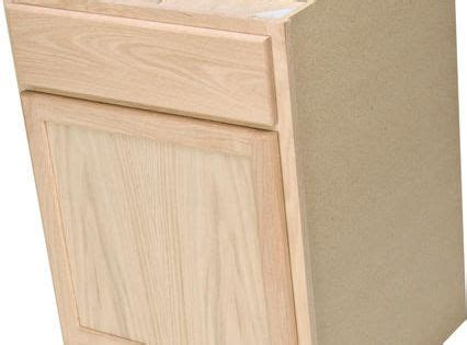 quality      unfinished oak base cabinet