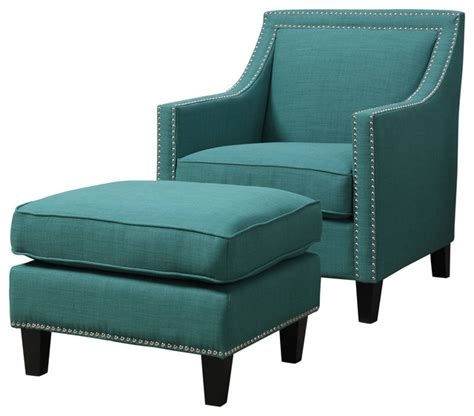 emery chair and ottoman teal transitional armchairs and accent chairs by picket house