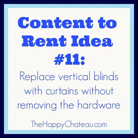 replace vertical blinds with curtains without removing the
