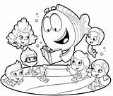Bubble Guppies Coloring Pages Characters Getcoloringpages Students Via sketch template