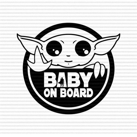 Free baby yoda too cute i am svg files • 1 svg cut file for cricut, silhouette designer edition and more • 1 png high resolution 300dpi • 1 dxf for free version of silhouette cameo • 1 eps vector file for adobe illustrator, inkspace, corel draw and more d i s c l a. Baby Yoda Svg Black And White