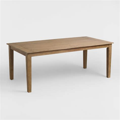 distressed wood dining table distressed wood harrow dining table world market