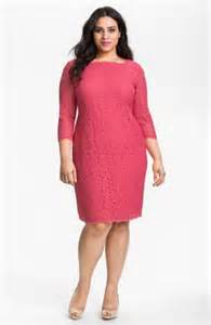 Plus Size Pink Lace Dresses