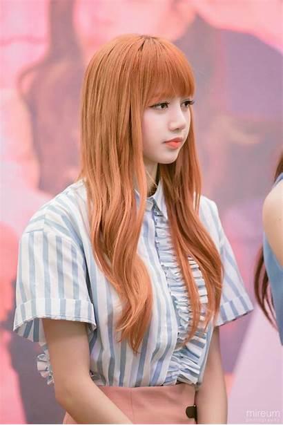 Lisa Blackpink Pink Wallpapers Orange Kpop Rose