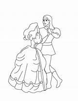 Pages Coloring Princesses Dancing Couple Twelve Print Index sketch template