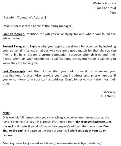 How To Name Your Resume Attachment by How To Write A Catchy Cover Letter Template Included Vacancies Nigeria