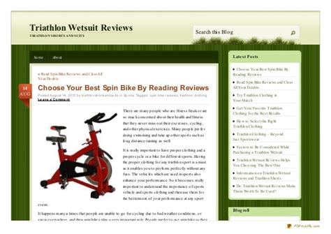 Choose Your Best Spin Bike By Reading Reviews