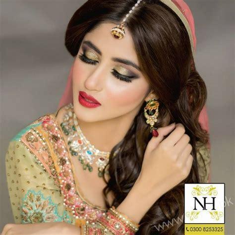 sajal ali bridal photoshoot  nadia hussain salon
