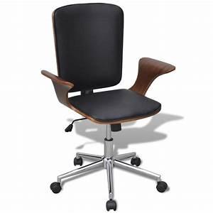 Chaise De Bureau Bois : la boutique en ligne chaise de bureau rotative en bois cintr avec rev tement en faux cuir ~ Preciouscoupons.com Idées de Décoration