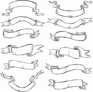 Hand drawn vintage ribbon benner vector 07 - Vector Banner ...
