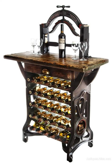 henley victorian mangle wine rack table antiques
