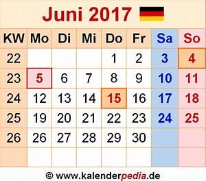 Kalender Juni 2017 Zum Ausdrucken : kalender juni 2017 als excel vorlagen ~ Whattoseeinmadrid.com Haus und Dekorationen